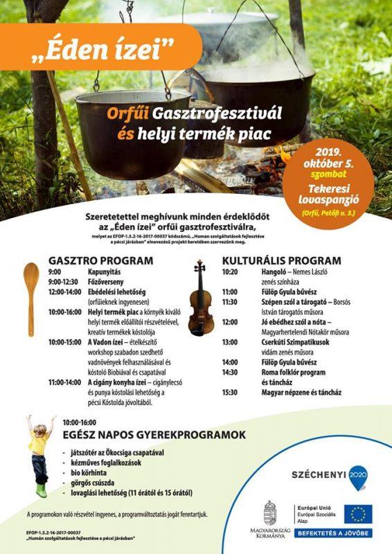 Éden Ízei Gasztrofesztivál, Orfű2019. október 5.